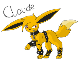 Claude as Eevee by TwilightTheEevee