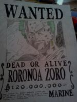 Wanted Poster - Zoro by Cam-san