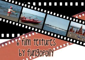 6 Film Textures by fungopolly