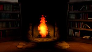 fire place background no seats by Elythespidermare
