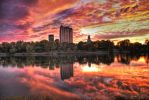 Still Waters and Fall Clouds by michaywood