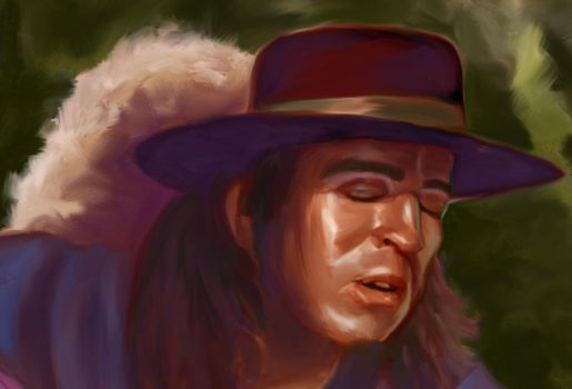 stevie ray vaughan by great-master