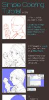 SAI Coloring Tutorial by stephcral
