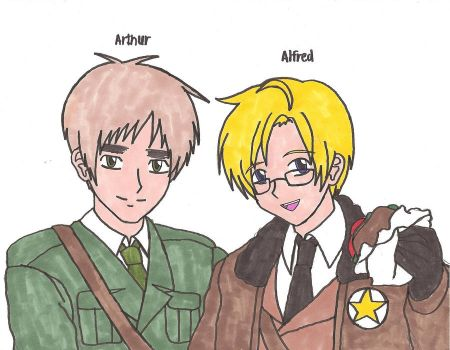 Hetalia: Arthur and Alfred by Fantasy34
