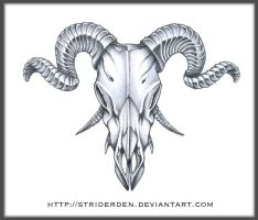 Demon Goat Skull Design by StriderDen