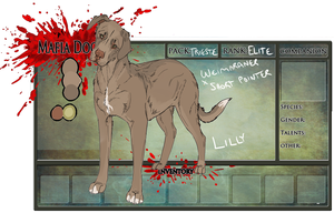 Lilly Reference [MAFIA DOGS] by weaselbites