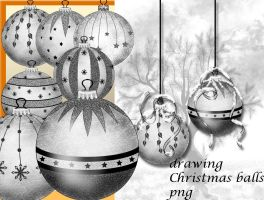 drawing Christmas balls by roula33