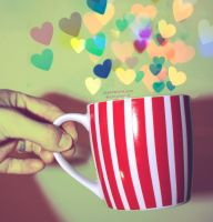 i LOVE mug by moninyok