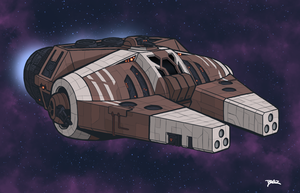 Rendili Blackstar Light Corvette by Blazbaros