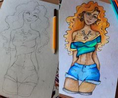 Merida sketch by Alexandra-Mad