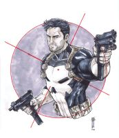 Punisher copic by Thegerjoos