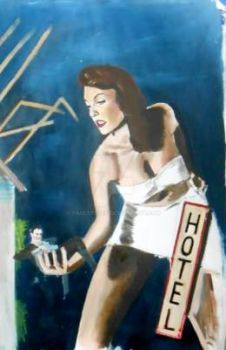 Allison Hayes/Attack of the 50 Foot Woman,oil by Paulstered