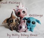 Dust fairies and Gillings under construction. by BittyBiteyOnes