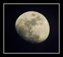 Moon over Merritt Island by OpticaLLightspeed