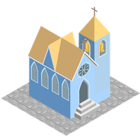 isometric church model 1 by andre-tachibana