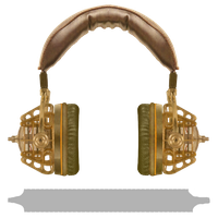 Steampunk Victorian Audio-Headset Icon by pendragon1966