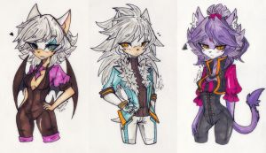 Rouge, Silver and Blaze by seuris