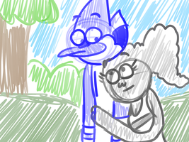 Mordecai x CJ by LotusTheKat