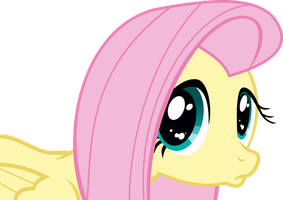 Fluttershy's Puppy Dog Face by jessekruz