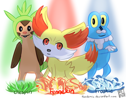 Pokemon X Y: Starters by Kepidemic