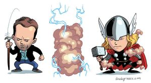 Dr House to Thor by iliaskrzs