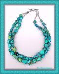 TURQUOISE NUGGET COLLIER by Voodoomamma