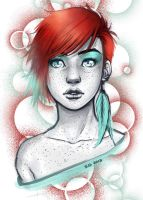 Teal and Red by Roots-Love