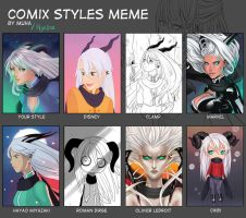 Comix Style Meme - Rei by Nychse