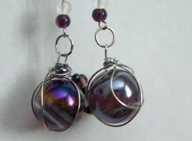 Galaxy earings - 2 by Meeshah