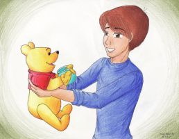 Christopher and Pooh by artiemei