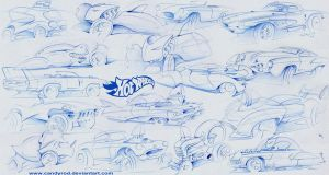 Hot Wheels sketches by candyrod