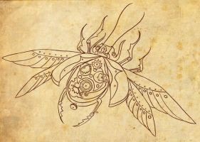 Clockwork Scarab by chai--tyto