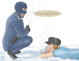 TF2- scene from Box of Needles by syntic
