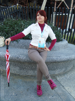 Claire Redfield RE Degeneration cosplay by Vicky-Redfield