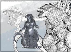 Sketchbook: Godzilla 2012 Legendary Pictures by Dezarath