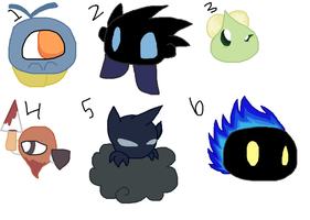 Kirby species adoptables (2 points each)  Batch #2 by ghostiibear