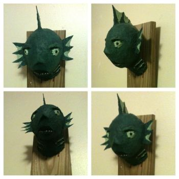 Paper Mache Fish Monster by YouDidThatOnPurpose