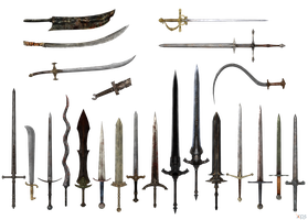 Dark Souls swords by Bringess