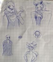 Undertale sketches by w-olflover443