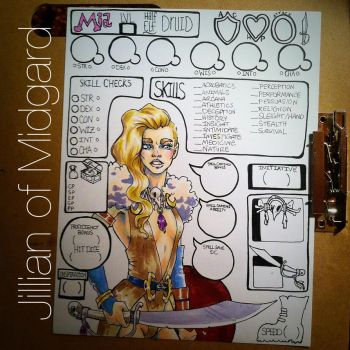 Mia Custom Character Sheet by Jillian-of-Midgard