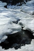 Rushing under Ice by AlgeriArts