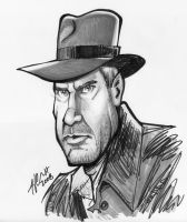 Indiana Jones Caricature by hcnoel
