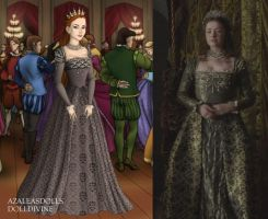 Princess Mary's Silver Gown Ver. 2 by LadyAquanine73551