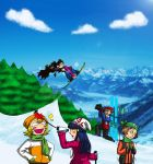Because skiing is the most awesome thing by Taschasan