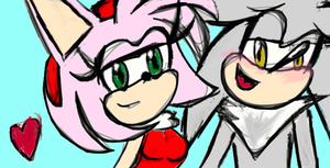 Silvamy Maybe?-Practice/fun sketch! by SonicFreakyGeek