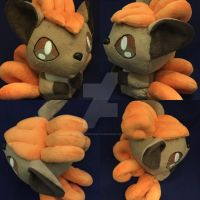Vulpix Pokmon Plush by BeeNerdishCrafts