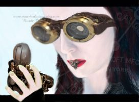 steampunk with goggles by muertosdesigns