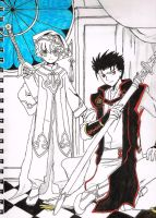 Little Syaoran and Kurogane by Moonfire56