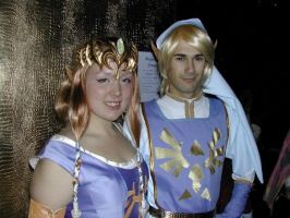 Link and Zelda, cosplay ball by the-infamous-padfoot
