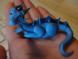 Water Dragon is small by KatiesCritters